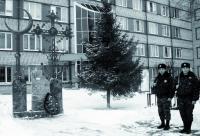 Полумесяц встал рядом с крестом перед зданием полиции в Тобольске
